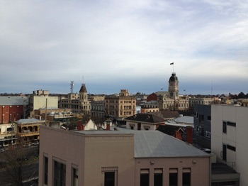 View of Ballarat  from the apartment