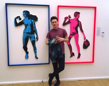 2015 Exhibition BA Daniel Fountain Screenprinting