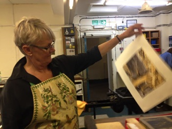 Judy Batt Stone and Monoprint Old College 2015